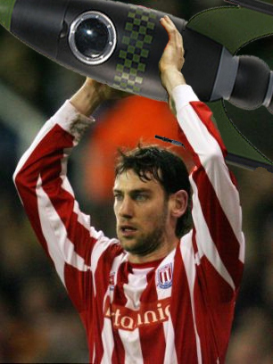 Wing Commander Delap launches Stoke's aerial attack...