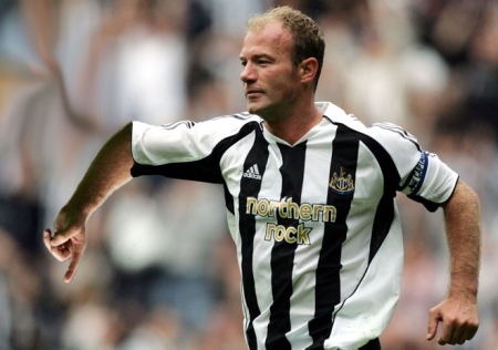 Alan Shearer uses his 'legendary' goal celebration to show which direction he'll be taking Newcastle...