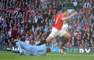 Carrick falls in three, two, one...