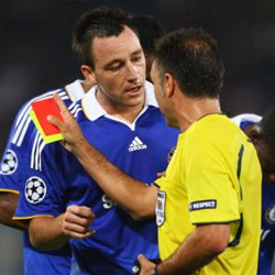 Influence the ref - get Messi booked