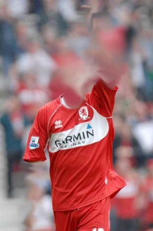 The invisible striker, apparently last seen 'playing' for Middlesbrough.
