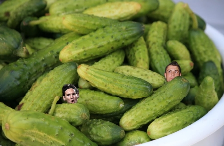 Messi and Ronaldo in a bit of pickle.