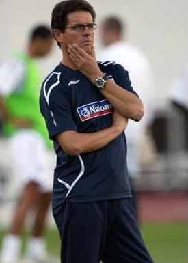 Fabio Capello training