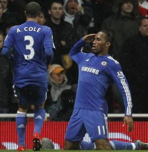 didier drogba ashley cole arsenal chelsea