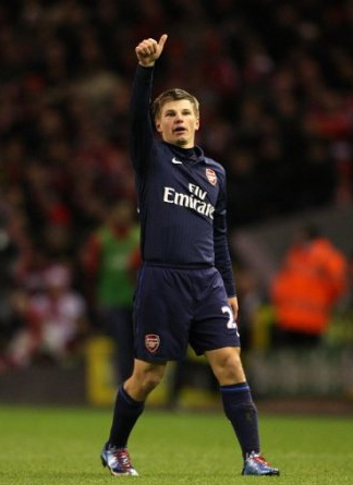 Andrey Arshavin Arsenal Liverpool Anfield