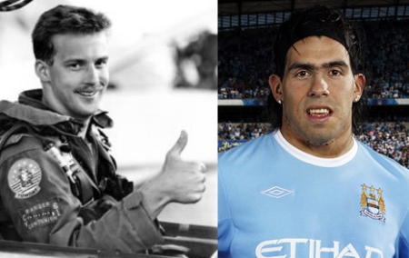 Carlos Tevez Top Gun Goose Man City