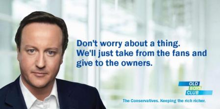 David Cameron Conservaives football debt