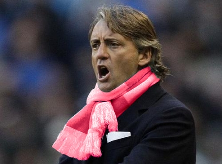 roberto mancini man city scarf