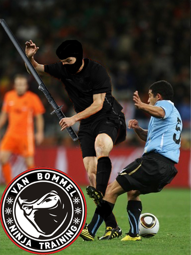 van bommel ninja foul